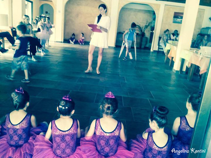With my dance students